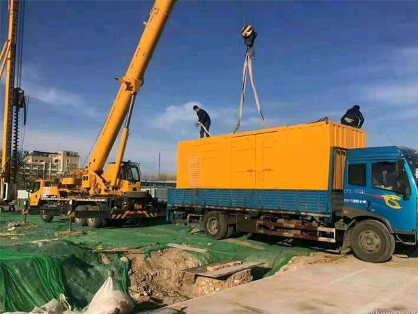 宿迁万科工程建设租赁一台大型静音发电